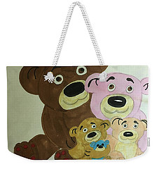 The Teddy Family  Weekender Tote Bag