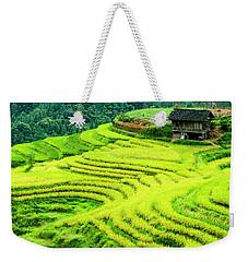 The Terraced Fields Scenery In Autumn Weekender Tote Bag