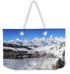 The Tetons From Gros Ventre Valley Weekender Tote Bag