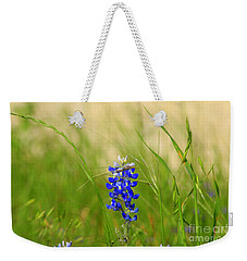 Weekender Tote Bag featuring the photograph The Texas Bluebonnet by Kathy White