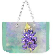 Weekender Tote Bag featuring the photograph The Texas State Flower The Bluebonnet by David and Carol Kelly