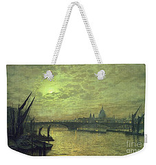 The Thames By Moonlight With Southwark Bridge Weekender Tote Bag