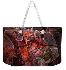 The Third Voice - Fractal Art Weekender Tote Bag by NirvanaBlues