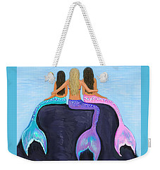 Weekender Tote Bag featuring the painting The Three Beauties by Leslie Allen