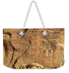 The Three Kings Petroglyph Panel Weekender Tote Bag