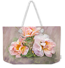 Weekender Tote Bag featuring the photograph The Three Of Us by Betty LaRue