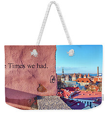 Weekender Tote Bag featuring the photograph The Times We Had by Fabrizio Troiani
