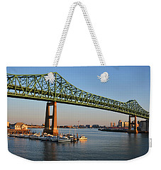 The Tobin Bridge Into The Sunset Chelsea Yacht Club Weekender Tote Bag