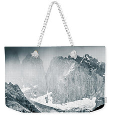 Weekender Tote Bag featuring the photograph The Towers by Andrew Matwijec