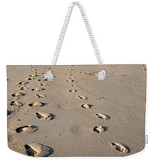 The Trails Of Footprints - Jersey Shore Weekender Tote Bag