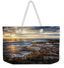 Weekender Tote Bag featuring the photograph The Tranquil Seas by Susan Rissi Tregoning