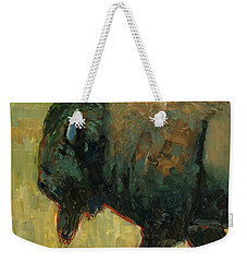 Weekender Tote Bag featuring the painting The Traveler by Billie Colson