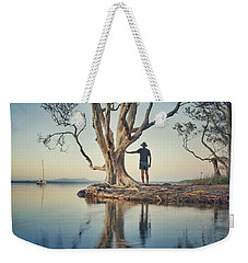 Weekender Tote Bag featuring the photograph The Tree And Me by Keiran Lusk