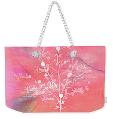 Weekender Tote Bag featuring the digital art The Tree Of Life, Dedicated To Cancer Research by Sherri Of Palm Springs