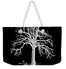 The Tree - White On Black  Weekender Tote Bag