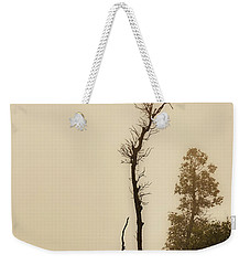 The Trees Against The Mist Weekender Tote Bag by Rajiv Chopra