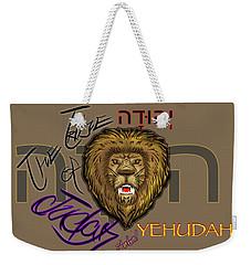 The Tribe Of Judah Hebrew Weekender Tote Bag