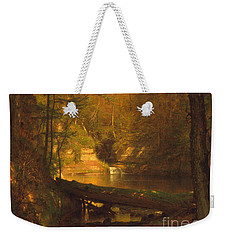 Weekender Tote Bag featuring the photograph The Trout Pool by John Stephens