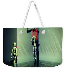 The Truthsayer Meets Denial Weekender Tote Bag by John Alexander