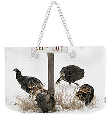 The Turkey Patrol Weekender Tote Bag by Mike Dawson