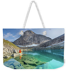 The Turquoise Lake Weekender Tote Bag by Alex Conu