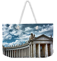 Weekender Tote Bag featuring the photograph The Tuscan Colonnades In The City Of Rome by Eduardo Jose Accorinti