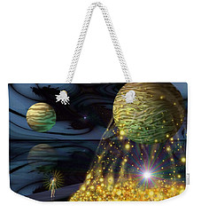 Weekender Tote Bag featuring the digital art The Tutelary Guardian by Vincent Autenrieb