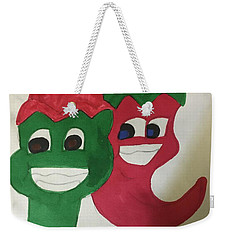 The Two Hot Peppers  Weekender Tote Bag