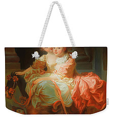 Weekender Tote Bag featuring the painting The Two Sisters                                   by Jean Claude Richard