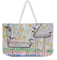 Weekender Tote Bag featuring the pastel The Two by Steven Macanka