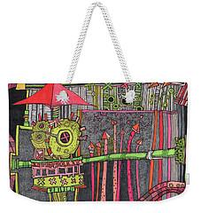 The Umbrella Roof Weekender Tote Bag by Sandra Church