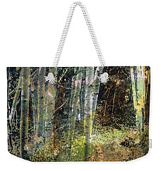 Weekender Tote Bag featuring the painting The Underbrush by Frances Marino