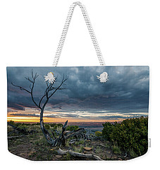 Weekender Tote Bag featuring the photograph The Unfolding Drama by Margaret Pitcher
