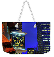 Weekender Tote Bag featuring the photograph The Union Oyster House - Boston by Joann Vitali