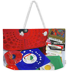 Weekender Tote Bag featuring the painting The Universal Language by Lynne Reichhart