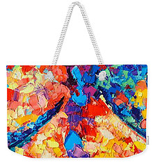 Weekender Tote Bag featuring the painting The Unknown by Ana Maria Edulescu