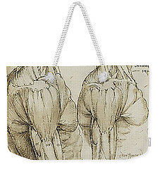 Weekender Tote Bag featuring the painting The Upper Arm Muscles by James Christopher Hill