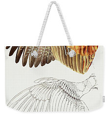 The Upper Side Of The Pheasant Wing Weekender Tote Bag
