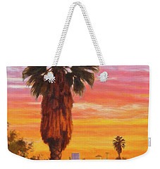 Weekender Tote Bag featuring the painting The Urban Jungle by Andrew Danielsen
