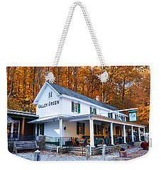 Weekender Tote Bag featuring the photograph The Valley Green Inn In Autumn by Bill Cannon