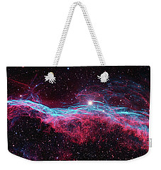 Weekender Tote Bag featuring the photograph The Veil Nebula by Nasa