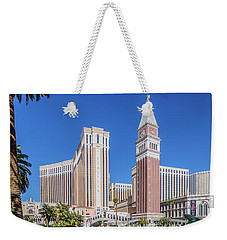 The Venetian In Front Of The Mirage Lagoon Day Portrait Weekender Tote Bag by Aloha Art