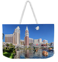 The Venetian In Front Of The Mirage Lagoon In The Afternoon Weekender Tote Bag by Aloha Art