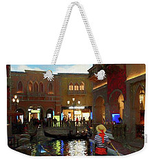Weekender Tote Bag featuring the photograph The Venetian by John Kolenberg