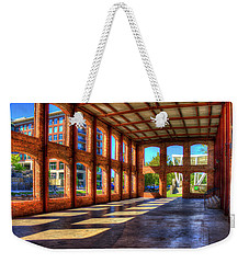 The Venue Old Mill Wedding Venue Reedy River South Caroline Art Weekender Tote Bag by Reid Callaway