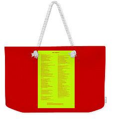 The Verdict Weekender Tote Bag