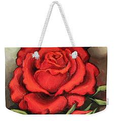 The Very Red Rose Weekender Tote Bag by Inese Poga