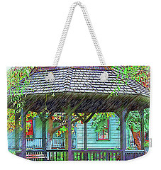 The Victorian Gazebo Sketched Weekender Tote Bag