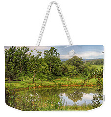 Weekender Tote Bag featuring the photograph The View Along Deerfield Trail by Kerri Farley