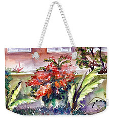 The View Behind The Fence Weekender Tote Bag
